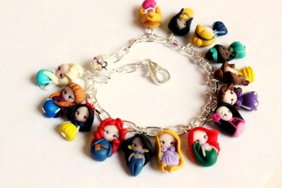 disney princesses inspiredbracelet collection by