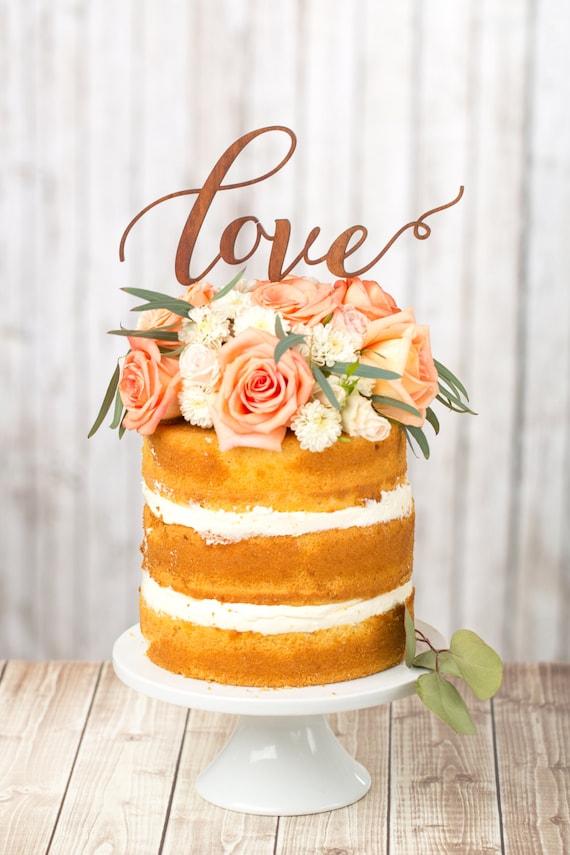 Wedding Cake Toppers Etsy Wedding Cake Topper Love