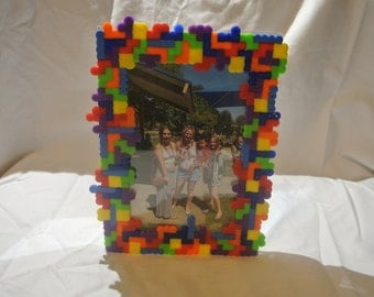 Free Shipping Tetris Inspired Hama / Perler / Fuse / Melty Bead Picture Frame