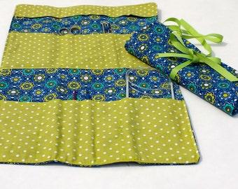 Navy Crochet Oranizer Roll