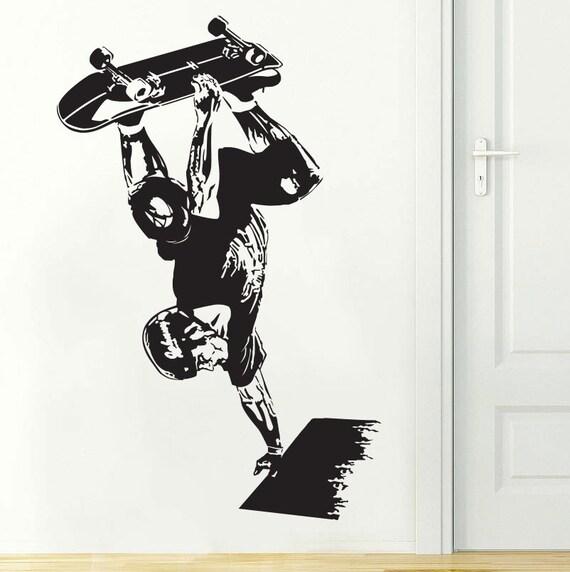 Items Similar To Skateboard Art Skateboarding Wall Decal