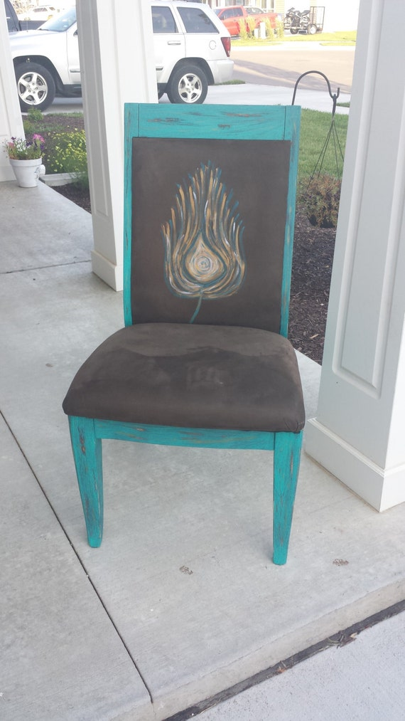 Peacock Accent Chair by TheGypsyWife on Etsy