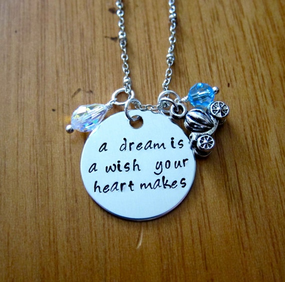 Cinderella necklace from Etsy