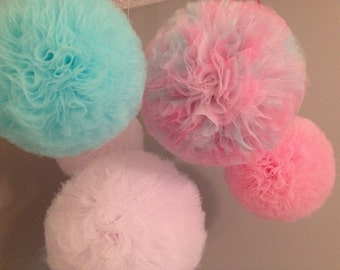 12 inch Tulle Puffs pom poms