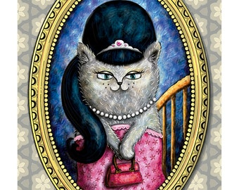 Portrait of a cat. Giclée signed and numbered copies. Art Print. Limited edition.