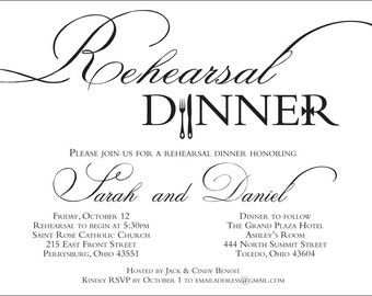 Rehearsal Dinner Invitation {Digital File}