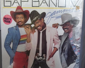 Gap Band V, Jammin', Vintage Record Album,Vinyl LP, Funk Rock Music, Dance, Party Music