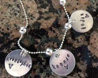 Children's Names Charm Necklace