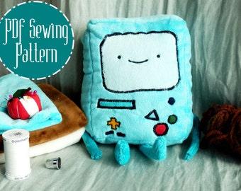 BMO Beemo Adventure Time plush pattern stuffed animal sewing PDF
