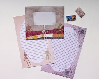 "Stationery Set - ""Halloween"" - 5 Envelopes & 10 Writing Sheets"