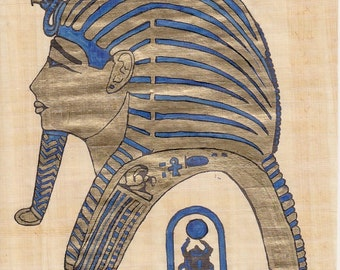 Egyptian Mask on Papyrus (d)