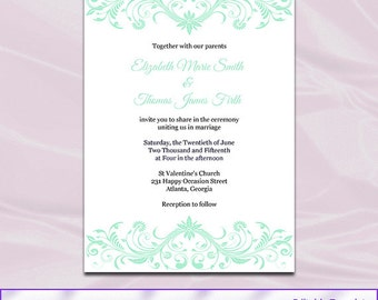 mint green wedding invitation templates 2 28 images mint green