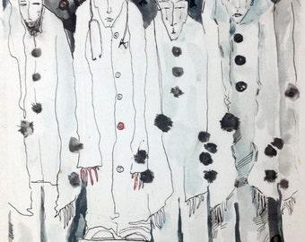 Modern Art, Abstract Watercolor, Original Painting, Contemporary Art, Wall Art Painting, Unusual Wall Art, Art Painting, Ink Art, Unique Art