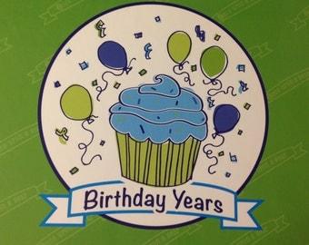 Birthday Years Green
