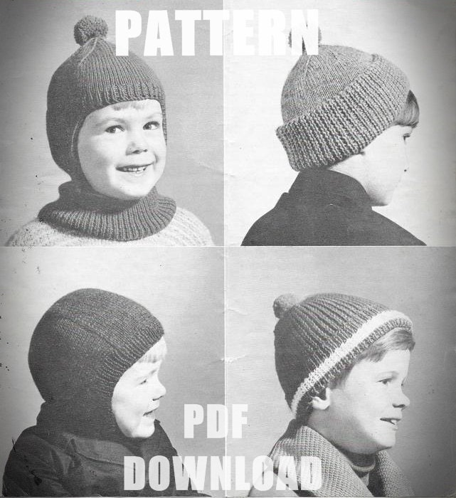 Girls Tank Top Knitted Sweater Vintage Knitting Pattern Cable