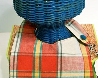 Vintage Tablecloth Baby Bib