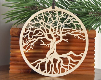 Tree of Life ornament woodcut tree of life decoration Wooden ornament