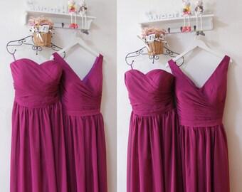 Mismatch Bridesmaid Dress,Long Chiffon Sweetheart Party Dress,Simple Plus Size Bridesmaid Dress,Dress for Bridesmaid,Bridesmaid Dresses