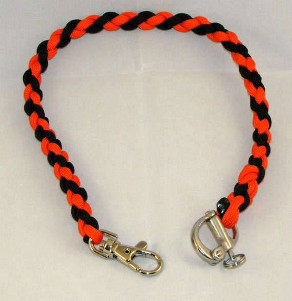 Paracord wallet chain or key lanyard for How to make a paracord wallet chain