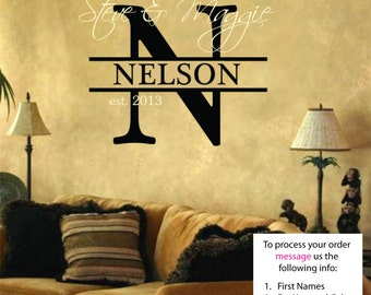 Nelson Name Wall Decal - Nursery Wall Decal - Teen Name Wall Decals - Personalized Wall Decals