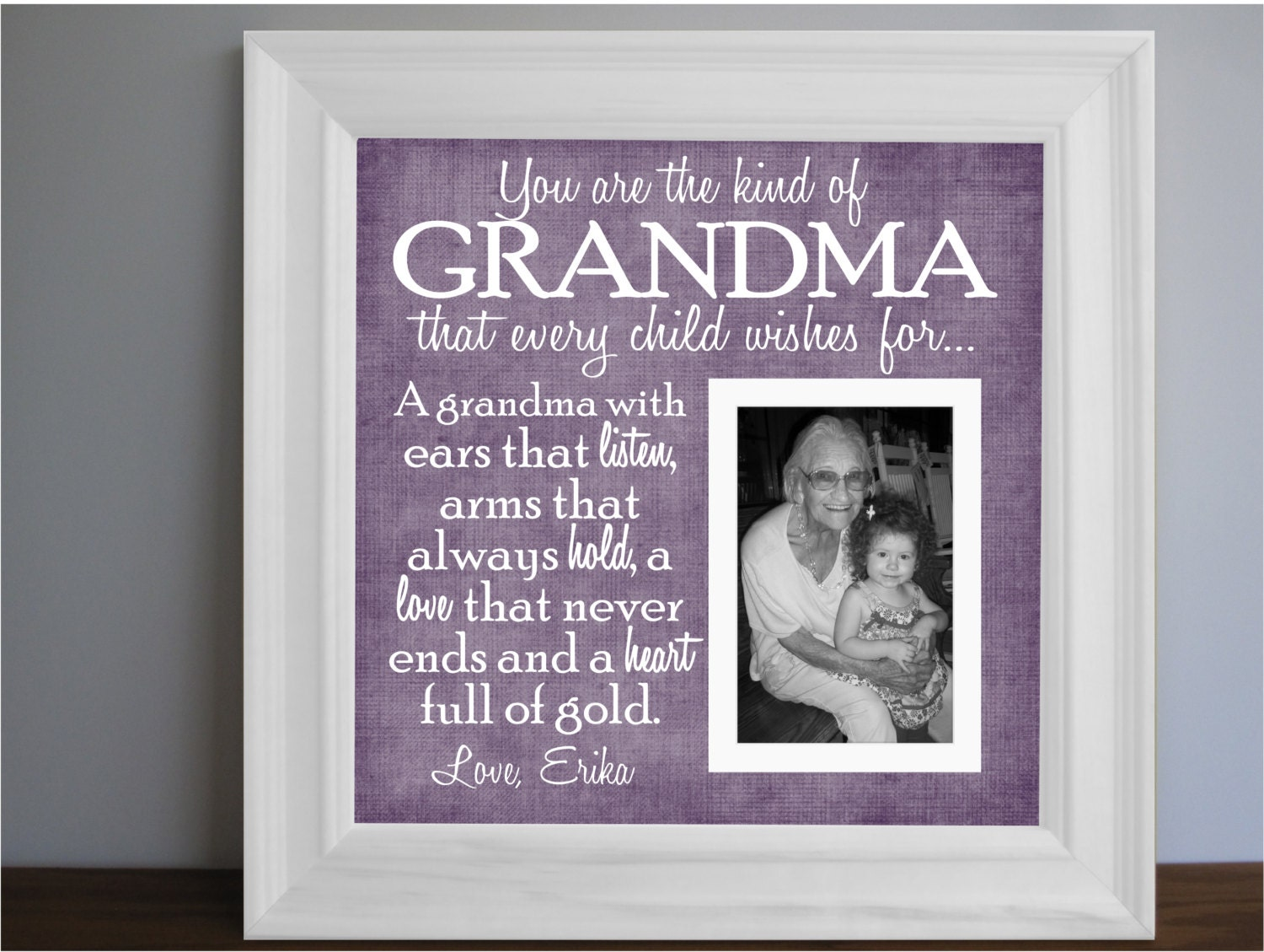Grandmother Frame Grandma Picture Frame By Framedaeon On Etsy