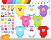 Bodysuit clipart - Digital Clip Art - Personal and commercial use