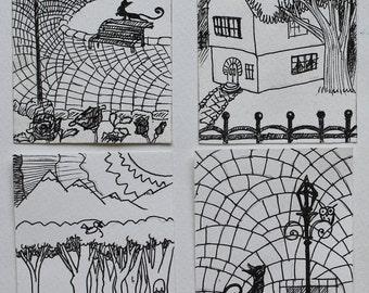 Original ACEO card drawing