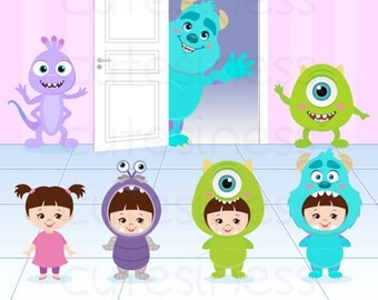 Monster Digital Clipart, Monster Clipart, Monster Clip Art, Monster University Clipart, Monster inc Clipart, Baby Monster Clipart