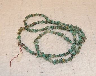 TURQUOISE STONE NECKLACE  Approx: 24""