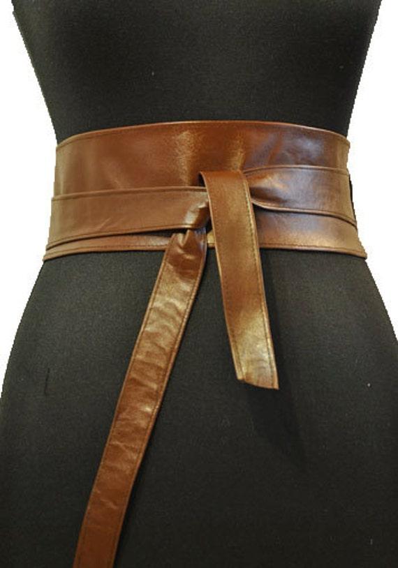 brown obi belt lether obi belt brown leather obi belt