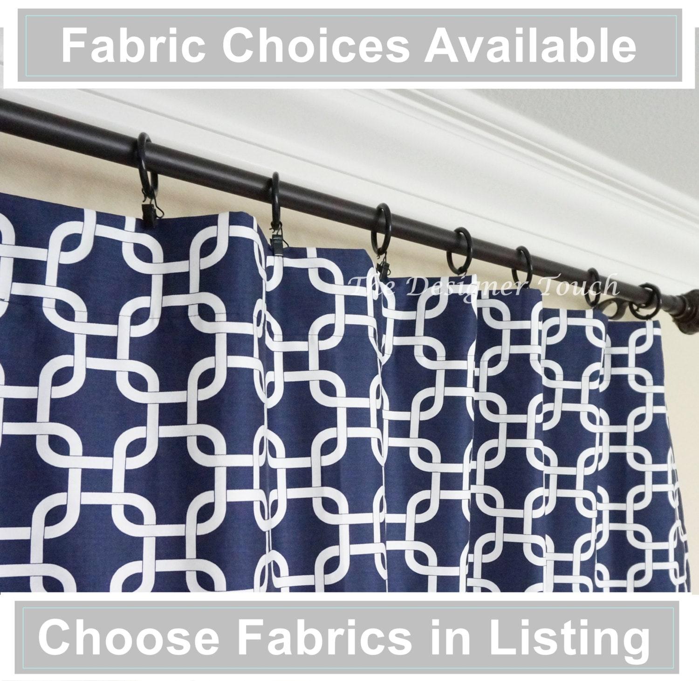 bleu marine rideaux rideau nautique marocain rideau panneau de. Black Bedroom Furniture Sets. Home Design Ideas