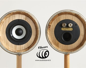 3 Cheers for Raw speakers Audibarrel.it unique Design and high fidelity.
