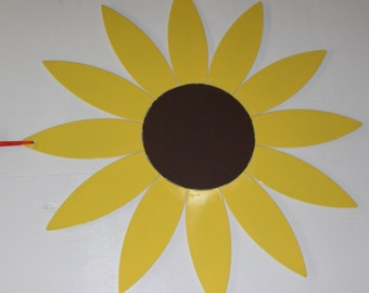 Sunflower metal door sign