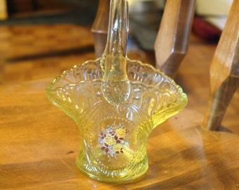 Vintage glass vase,basket