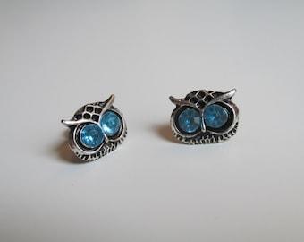 Vintage Style Owl Stud Earrings