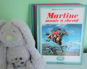 Martine monte à cheval by Gilbert Delahaye - Vintage French Children Book
