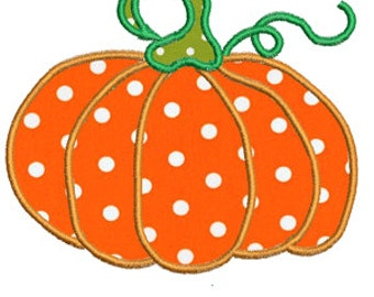 Pumpkin Applique Design -In Hoop size 5x7,- Instant Download - for Embroidery Machines