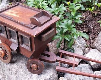 Vintage Wooden Stagecoach/Wagon - Western