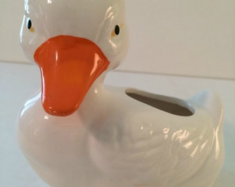Vintage Ceramic Duck Planter