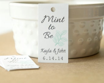 Mint To Be Favor Tags,Mint Favor Tags, Wedding Favor Tags, Bridal Shower Favor Tags, Engagement Party Tags,