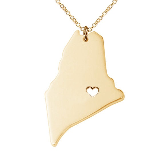 gold maine state necklaceme state charm necklacestate shaped