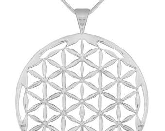 Flower of Life - LARGE - Sterling Sliver Pendant