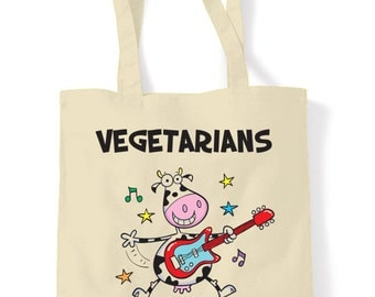 Vegetarians Rock Shopping Bag