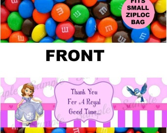 Sofia The First Candy Bag Topper - Princess Printable - Digital - Birthday Party - Goody Bag Treat - Instant Download