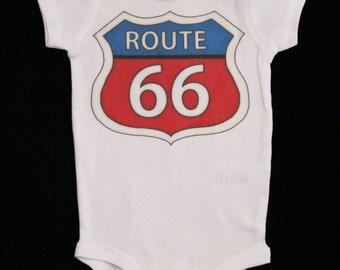 Route 66 Bodysuit - Baby's Route 66 Bodysuit- Baby Bodysuit - Babys Bodysuit - Novelty Bodysuit *MS1420