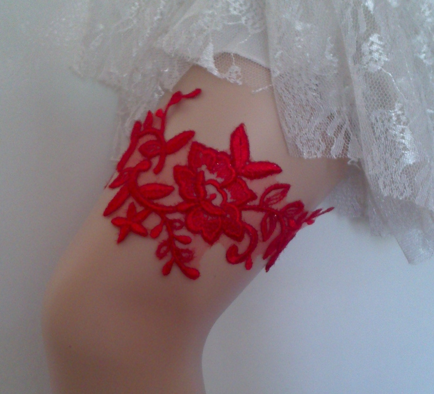 Red Wedding Garters: Red Wedding Garter Bridal Garter Lace Red By WeddingGood