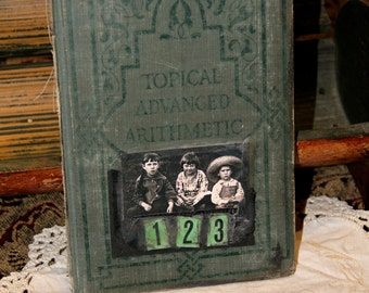 One, Two, Three - Original Book Cover Assemblage