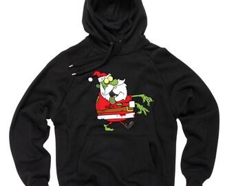 Christmas Santa Claus Zombie Hoodie Christmas Party Hooded Sweatshirt
