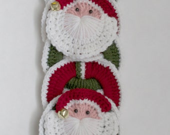 Christmas CROCHET PATTERN instant download -  Santa Wall Hanging, Wall Decor, Christmas Decoration