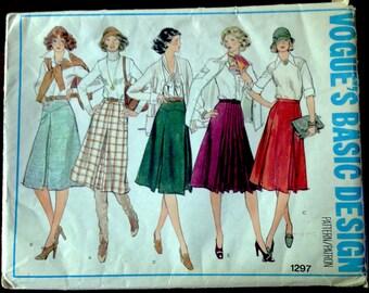 Vogue Basic Design 1297 - Midi Skirt in Five Styles - Size 25